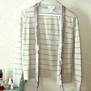Silver detailed LOFT cardigan, size SP ❄️